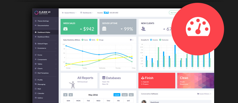 HTML 5 Admin & Dashboard Templates
