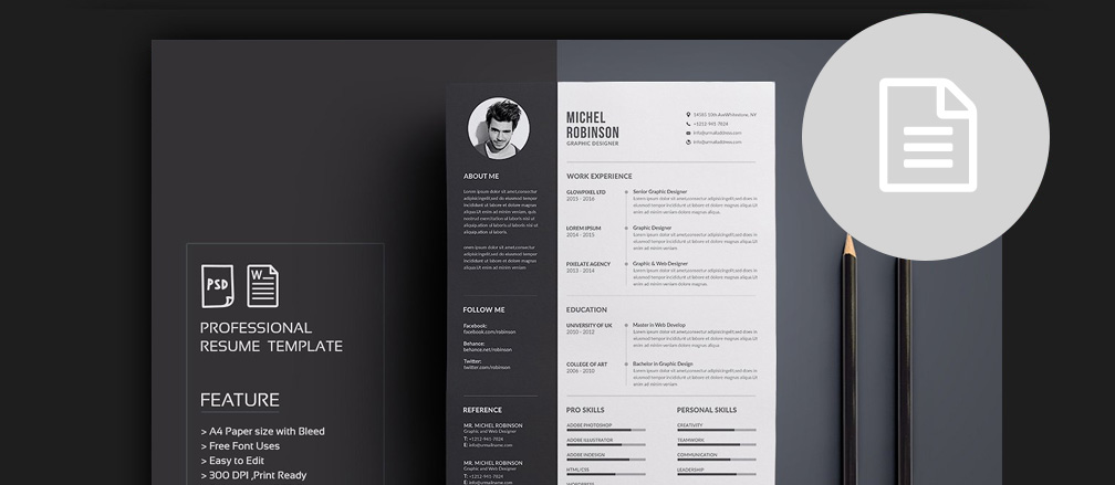 CV / Resume & Cover Latter Templates for Word & PDF