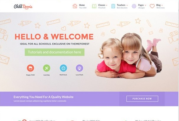40 Best Kids Children WordPress Themes 2017 Updated