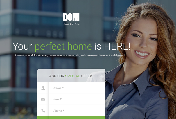 dom-real-estate-unbounce-landing-page