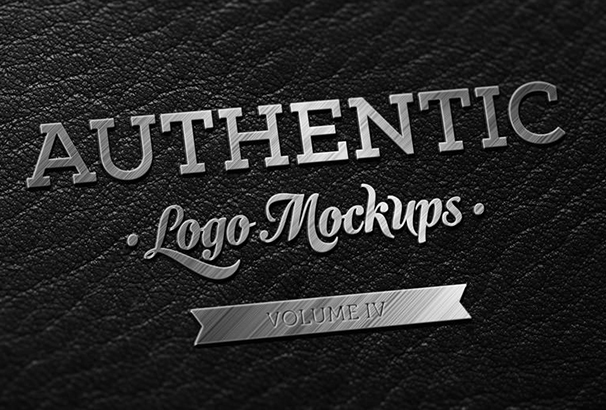 dark-leather-metallic-finish-logo-mockup