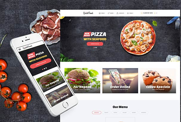 50 best html5 food restaurant website templates 2017