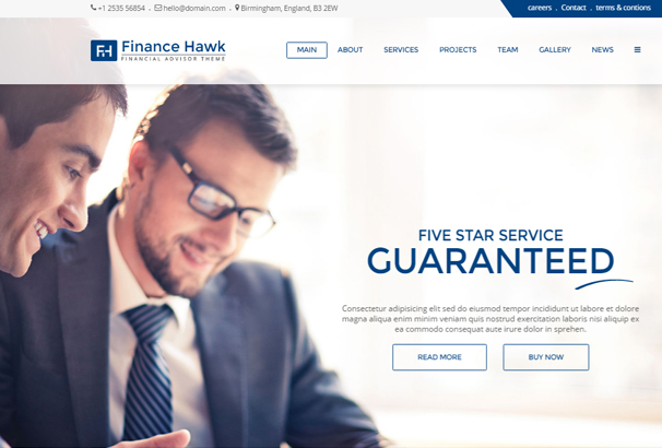 50+ Best Html Financial Website Templates 2017