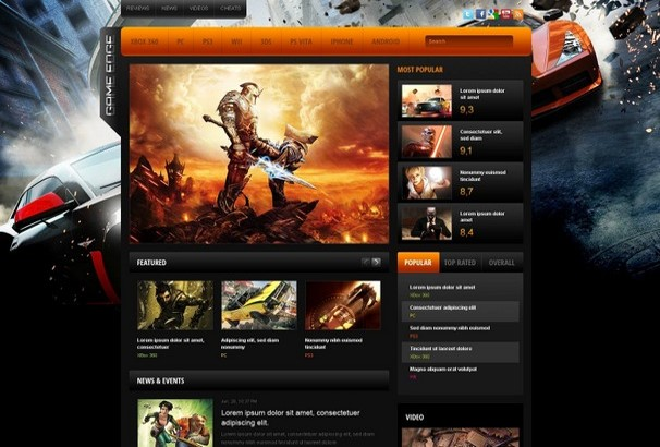 30+ Best HTML Video Games Website Templates 2017
