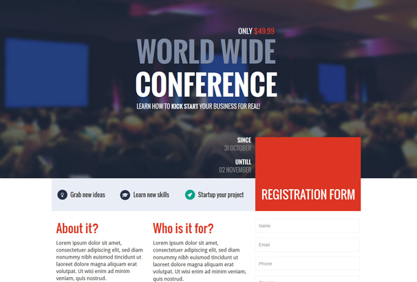 gen-business-startup-conference-landing-page