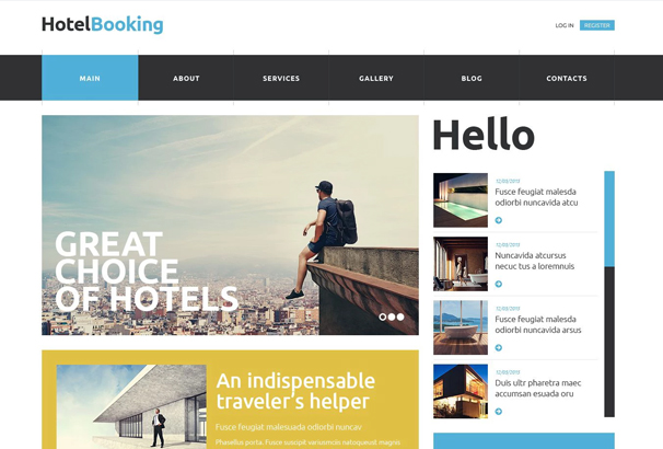 50 best html hotel website templates 2017