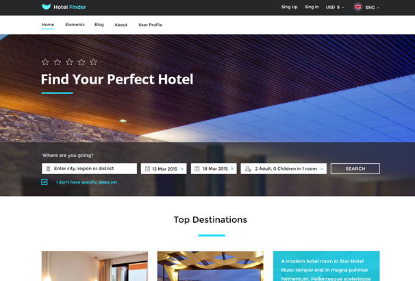 Best HTML Hotel Website Templates - Booking website template