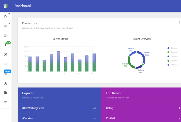 50 best angularjs admin templates to download 2017 materil is a material design template features a nested views and routines for large projects maxwellsz