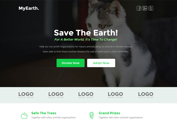 myearth-nonprofit-unbounce-landing-page-template