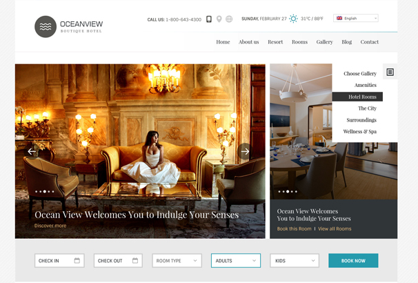 50+ Best HTML Hotel Website Templates 2017