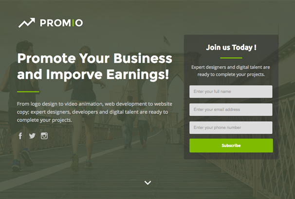 promio-marketing-multipurpose-unbounce-landing-page