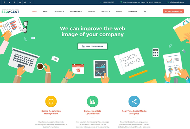 50 best html business website templates 2017 seo website responsive website template friedricerecipe