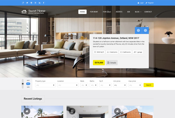 sweethome-real-estate-html-template