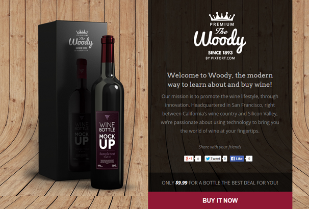 woody-drink-shop-instapage-landing-page-template