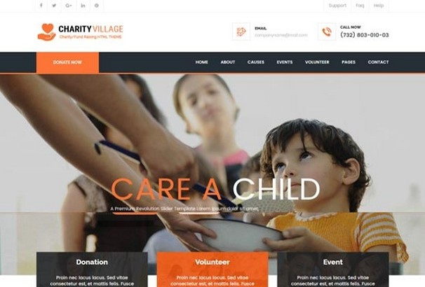 60+ Best HTML Charity Website Templates 2017