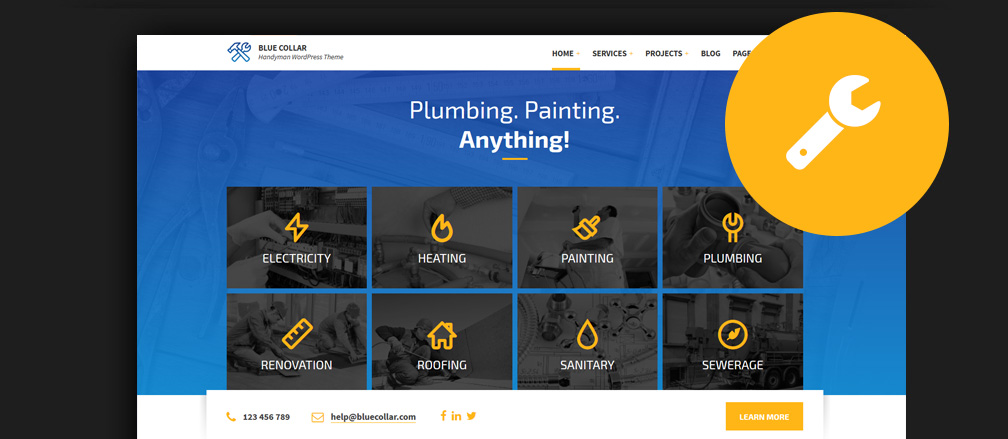 Best WordPress Themes for Plumbers & Heating Companies