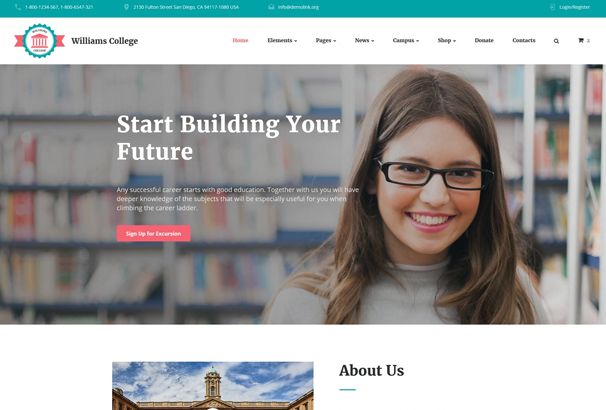 50 best html education website templates 2017
