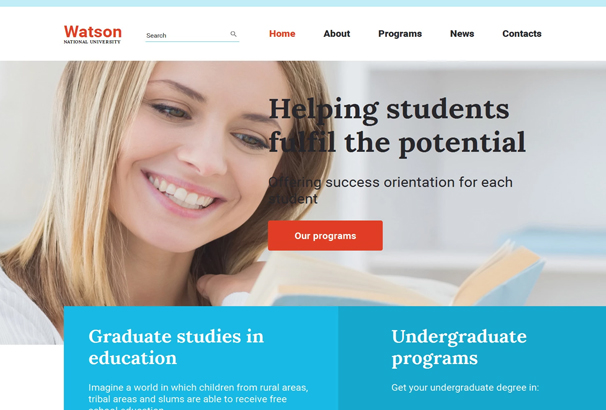 50 best html education website templates 2017 it has a very clean and modern decor with flexible sliders to show current students and other academic programs it is a fully functional theme with a pronofoot35fo Image collections