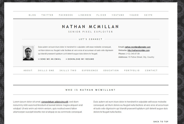 Best Html Cv  Resume Templates To Download