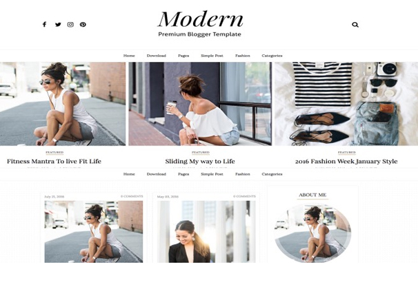 Top 50 best free blogger templates 2017 modern sidebar template has some amazing and unique features like email subscription widget ready gallery masonry portfolio 3 columns footer pronofoot35fo Gallery