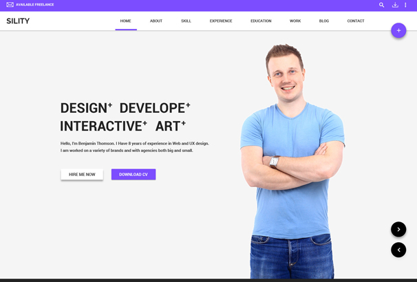It Is An Responsive HTML Template Which Is Material Design Style, Code  Optimized And Easy To Use.  Resume Html Template