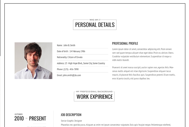 50  best html cv  u0026 resume templates to download 2017