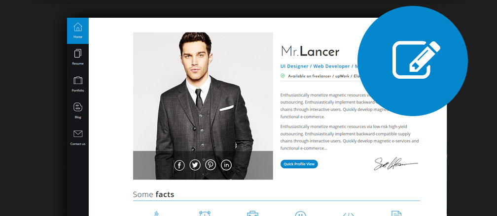 Best HTML CV & Resume Templates