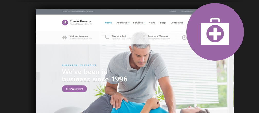 Physiotherapy & Chiropractor WordPress Themes