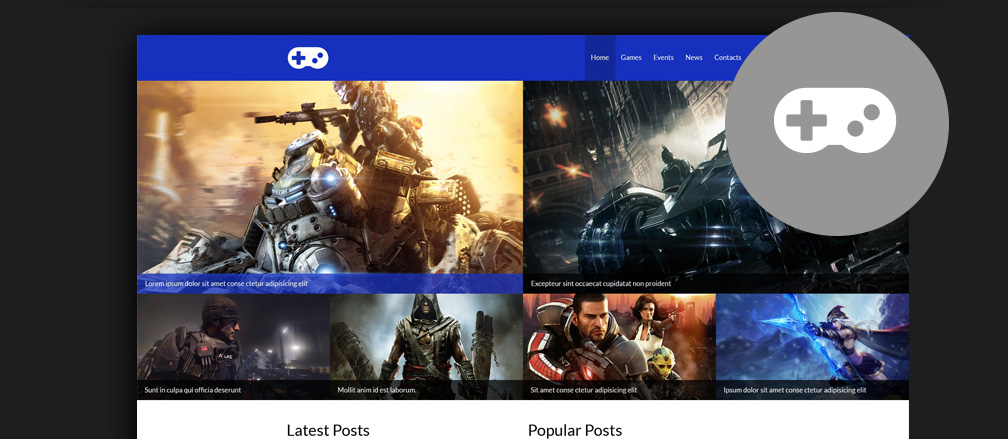 Best HTML Video Games Website Templates