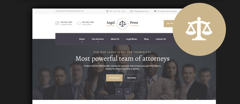 Lawyer & Law Firm Website Templates