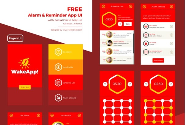 30+ Best Free Mobile UI Kits for iOS & Android / Photoshop & Sketch 2017