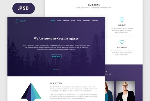 30 Best Free Photoshop Psd Website Templates 2017