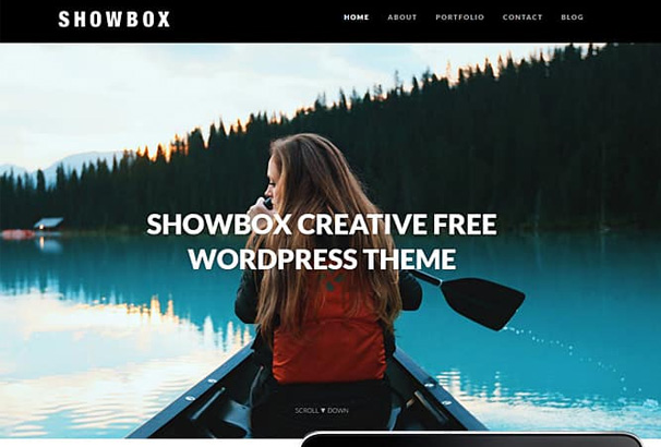 60 best free wordpress photography themes 2017 showbox photo portfolio responsive wordpress theme is great theme for any creative professional with clean design and minimal layout pronofoot35fo Images